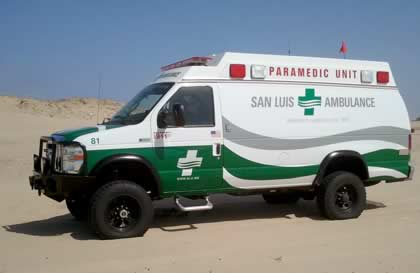 Conversion Example - Emergency Vehicles - Sportsmobile 4x4 Ambulance