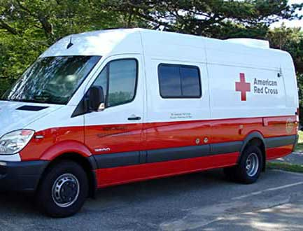 Conversion Example - Emergency Vehicles - Red Cross Multi-Use Vehicle