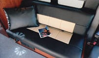 Interior view of a Gaucho back cushion in a Sportsmobile van conversion.