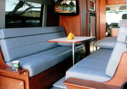 designing your custom camper van conversion seats bed choices. Black Bedroom Furniture Sets. Home Design Ideas