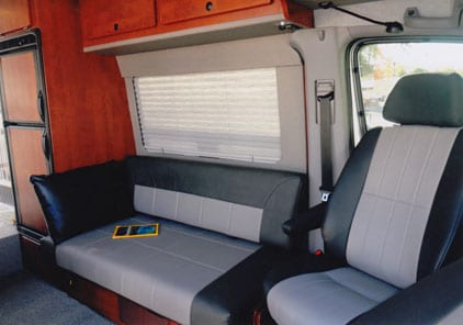 Designing Your Custom Camper Van Conversion Seats Bed Choices