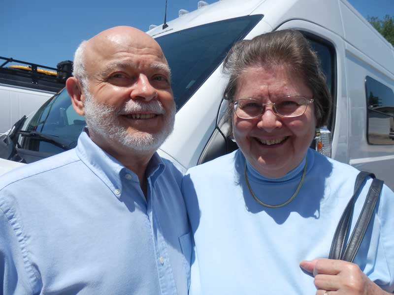 George and Ann Burkwell are happy Sportsmobile owners and love the way their conversion van drives.