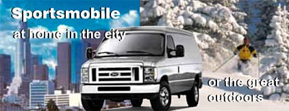 A Sportsmobile van conversion is good not only for traveling through the country, but also in the city.