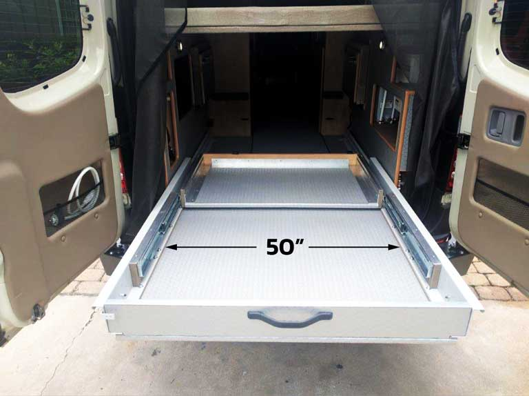 Sprinter Van Conversions for Cyclists + Bikes + Gear + Trays