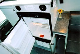 Interior view of the refrigerator.