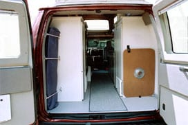 Interior view of the large cargo area.