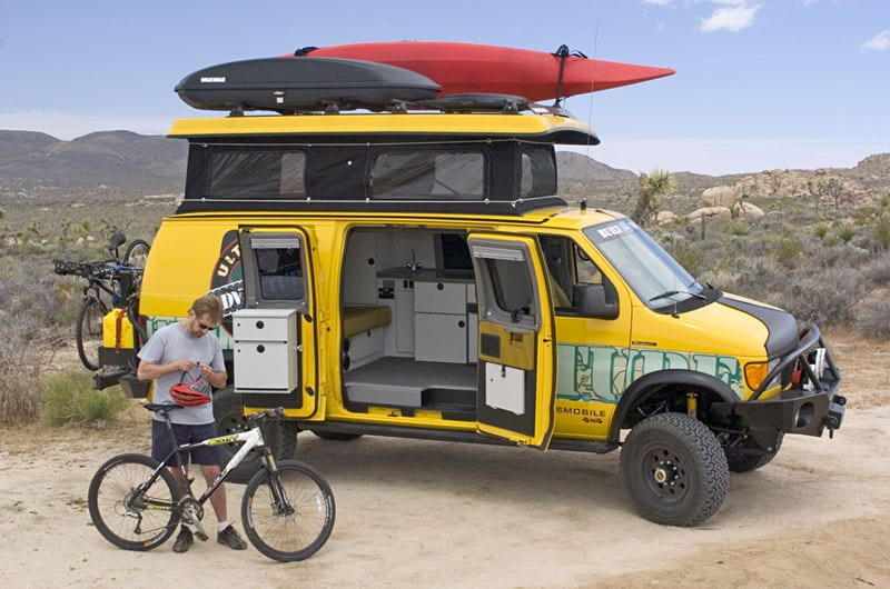 Taking your Sportsmobile conversion out for mountain biking.