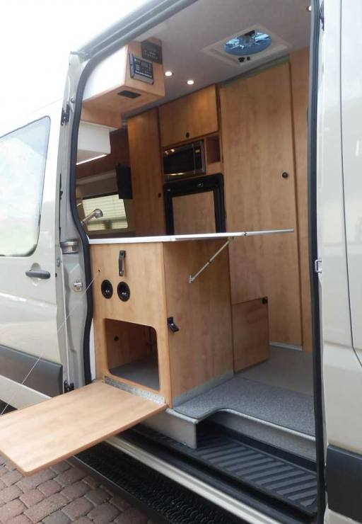 60 Ford Transit Camper Conversion Dinette Bed Bath