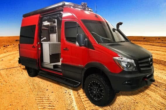 Red Sportsmobile Sprinter 4x4