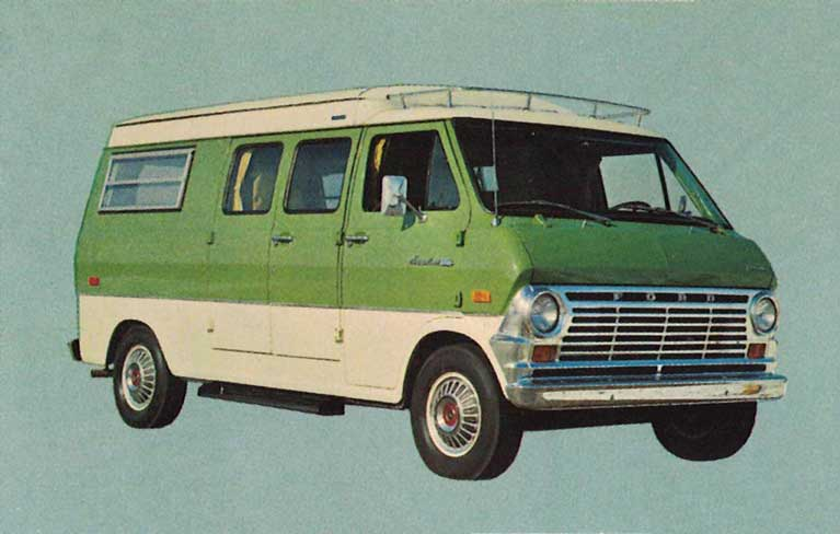 1968 Ford Super Econoline van.