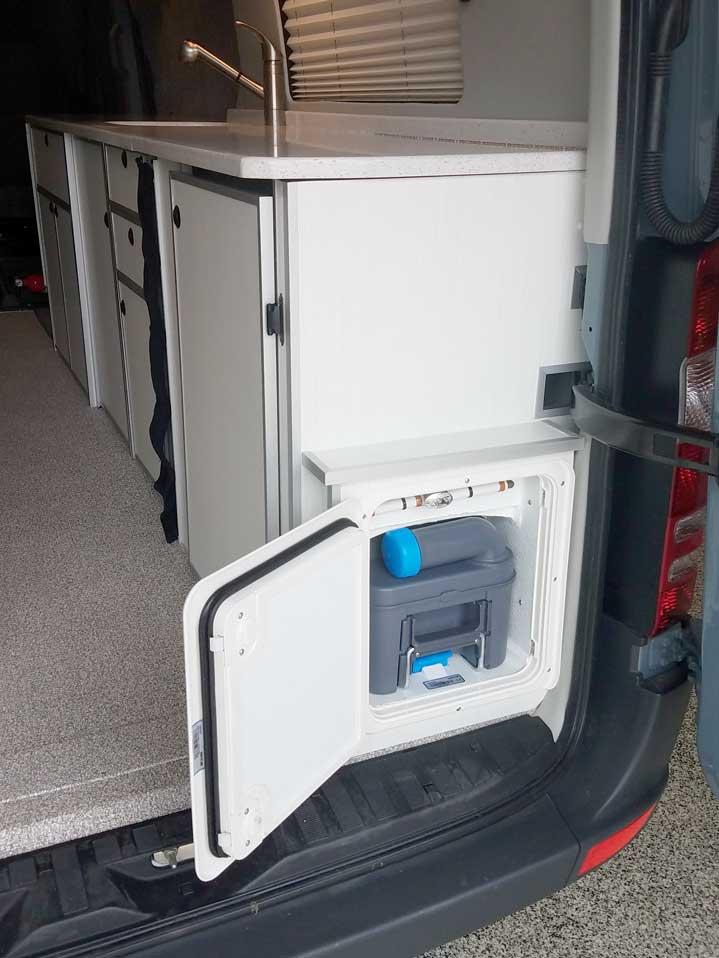 Van Conversions Design Baths Porta Potti Toilets