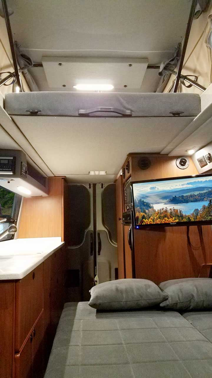 14 Sprinter Van Conversion Penthouse Top Gaucho