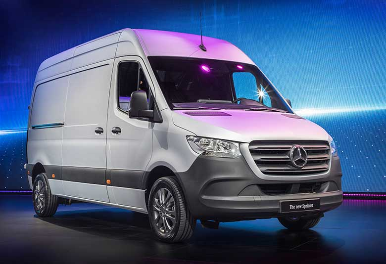2019 Mercedes-Benz Sprinter showcase van.