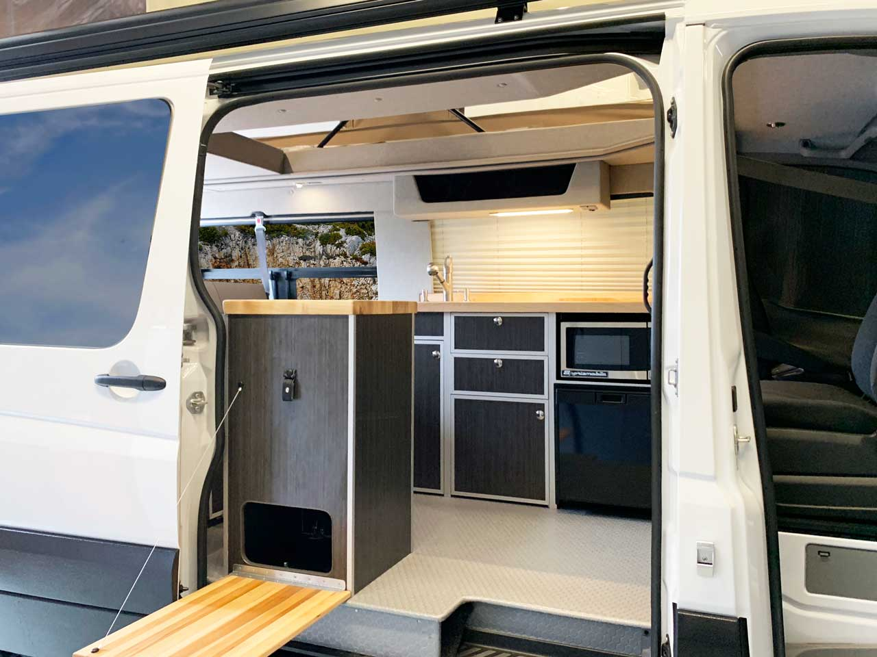 interior van sprinter conversion sportsmobile inside step 4x4 moderna contemporary cabinets s12 pop attractive throughout very quality
