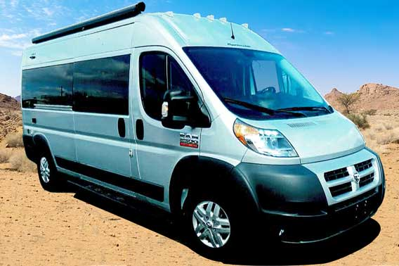Regular body with high roof ProMaster van conversion.
