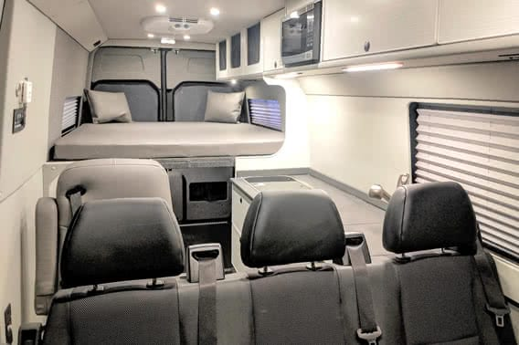 Sprinter Extended Body Van Conversion interior.