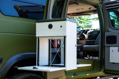 Sportsmobile 4×4 Van Conversion interior cabinet options.
