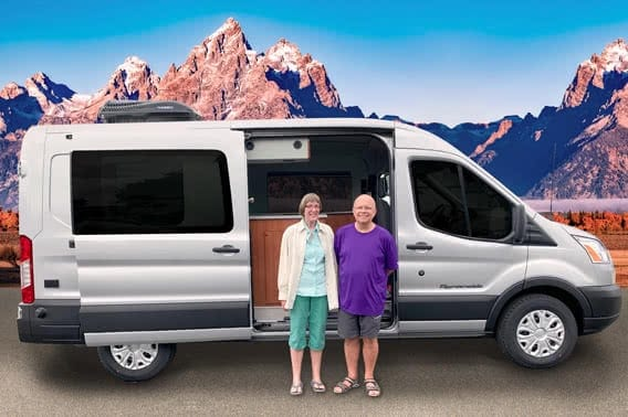 Van adventurers Jerry & Alice