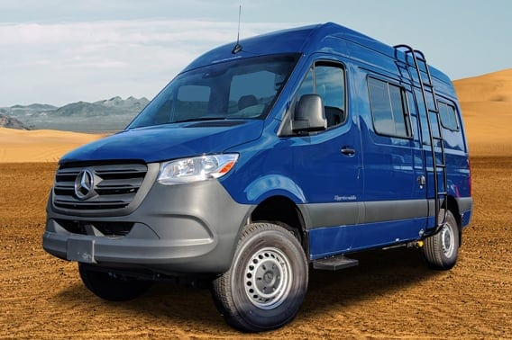 Blue Sprinter Regular Body van conversion